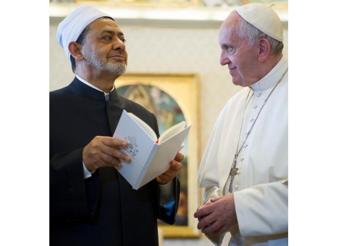 Al Tayyeb ricevuto da Papa Francesco