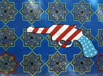 Teheran, murales anti-americano sul muro dell'ex ambasciata Usa