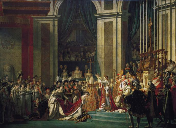 J. L. David, incoronazione di Napoleone