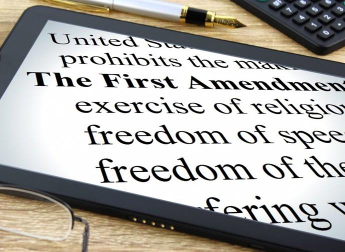 Primo emendamento: libertà di espressione