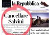 """""""Cancellare Salvini"""", Rep sfida la deontologia"""