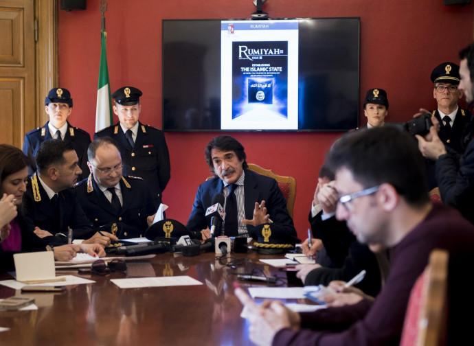 Torino, conferenza stampa dopo l'arresto di Halili