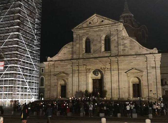 Veglia a Torino, piazza Duomo
