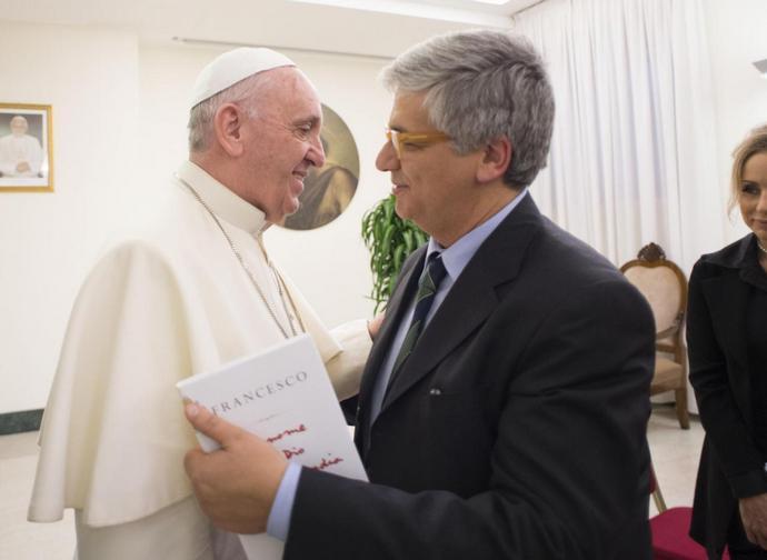 Andrea Tornielli con papa Francesco