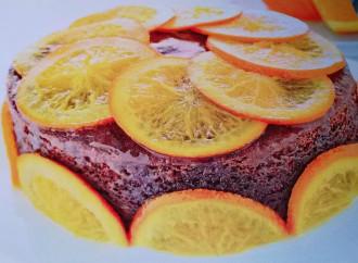 Torta al cioccolato e arance candite