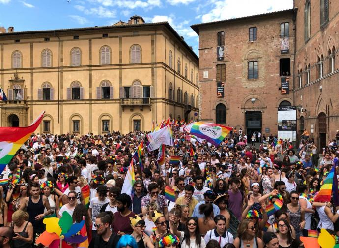 Il Toscana pride svoltosi a Siena nel 2018