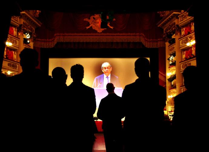 Imprenditori lombardi assistono all'intervento di Tria, alla Scala