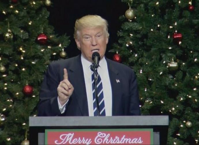 Trump, il discorso di Natale