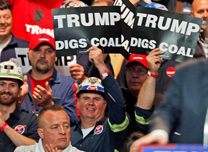 Trump e i minatori di carbone