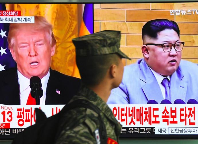 Donald Trump e Kim Jong un visti a Seul