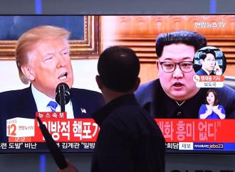 Trump e Kim visti dalla TV sudcoreana