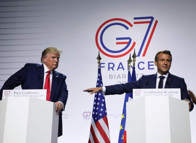 Trump e Macron al G7