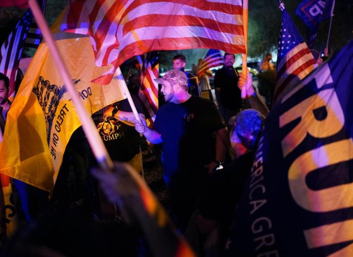 Manifestazione pro-Trump in Nevada