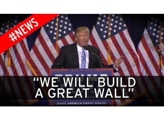"""Trump: """"Costruiremo un grande muro"""""""