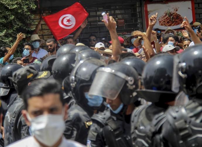 Manifestazione a Tunisi