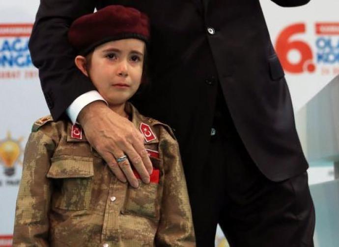 """Erdogan e la bambina """"martire"""""""