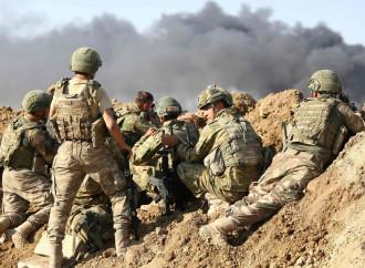 Siria settentrionale, soldati turchi al fronte