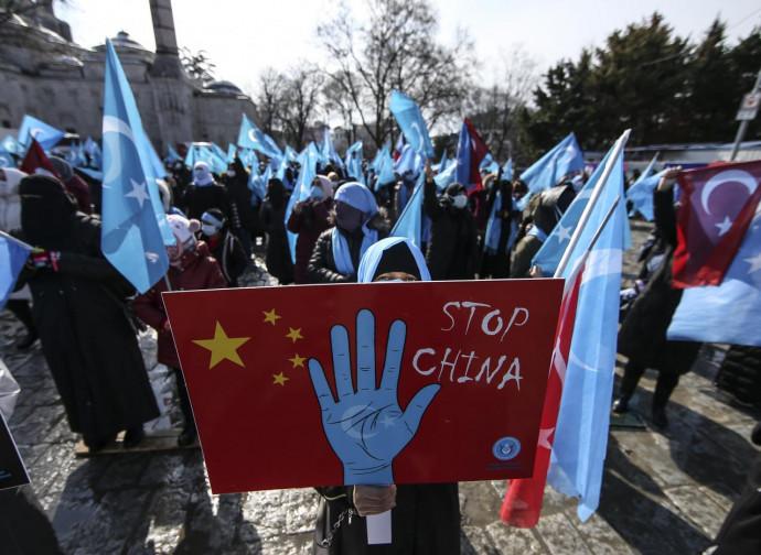 Manifestazione di esuli uiguri