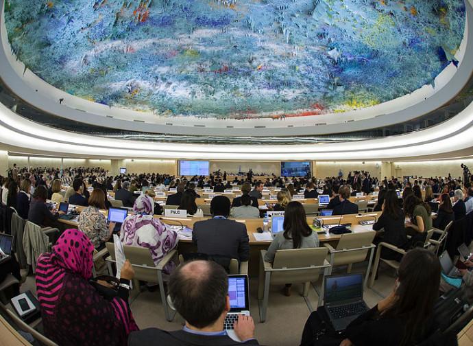 L'aula del Consiglio per i Diritti Umani