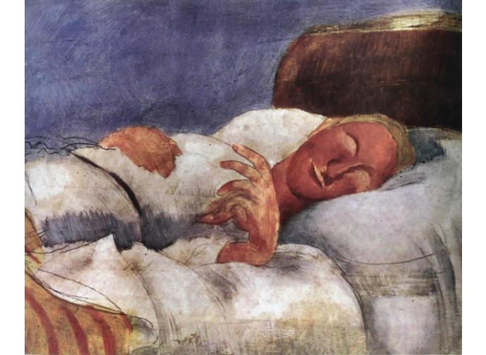 "Una delle immagini esposte: ""L'ammalata"" di Roger De La Fresnay"