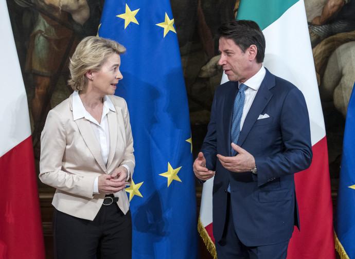 Ursula von der Leyen e Giuseppe Conte