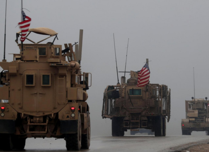 Mezzi corazzati Usa in Siria