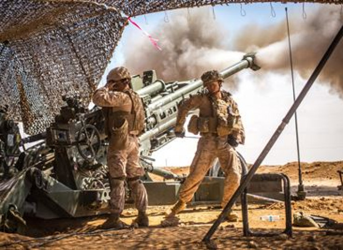 Artiglieria Usa in azione