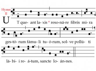 San Giovanni Battista e le note musicali