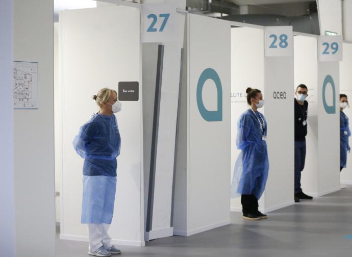 Un centro vaccinale a Roma