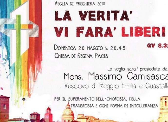L'annuncio della Veglia a Reggio Emilia