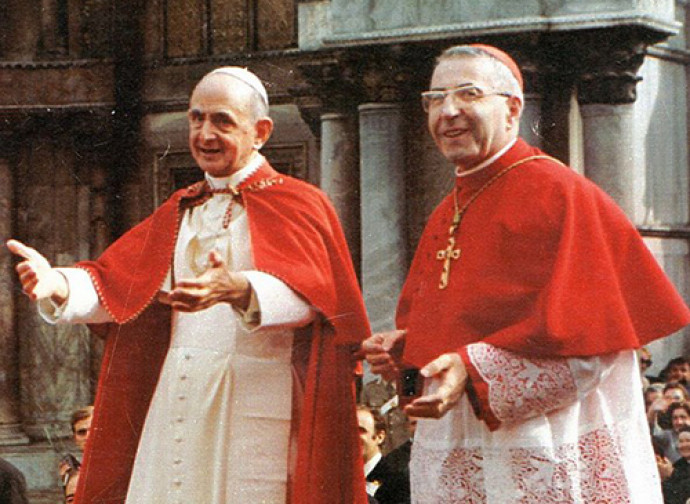 Il futuro Papa Luciani con Paolo VI