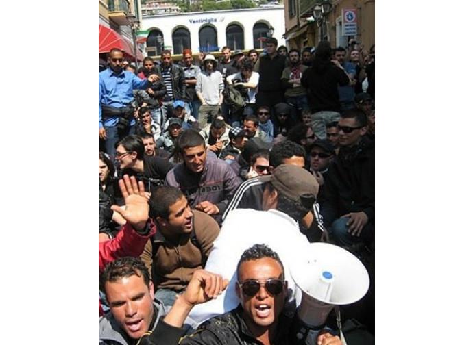 Ventimiglia, protesta degli immigrati