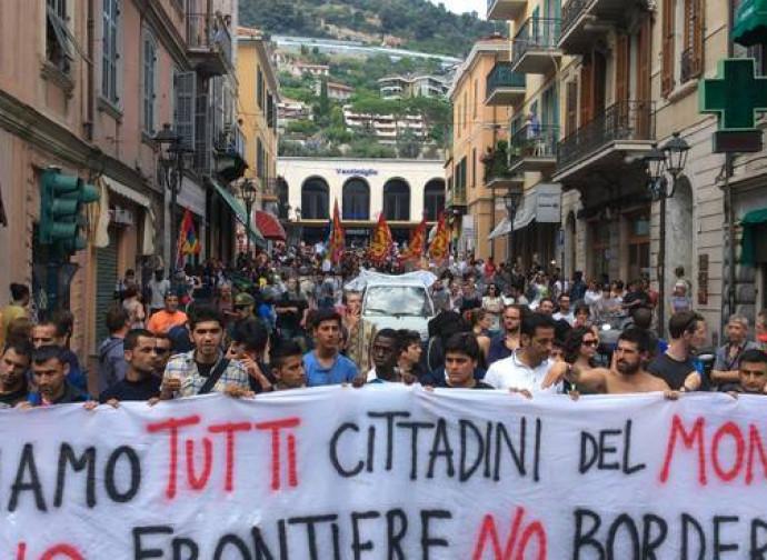 Manifestazione pro-immigrazione a Ventimiglia