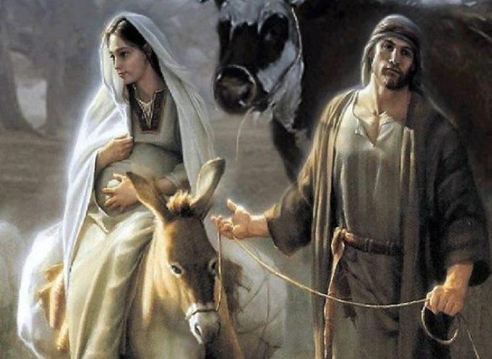 Giuseppe e Maria verso Betlemme