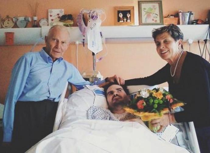Vincent Lambert con i suoi genitori