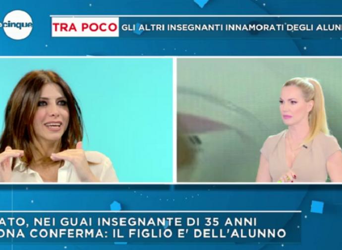 Emanuela Titocchia e Federica Panicucci in trasmissione