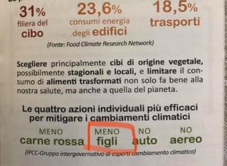 """""""Meno figli per il pianeta"""". Follia climatista a Cremona"""