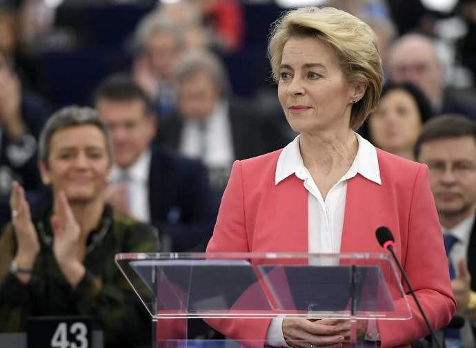 Il neo presidente della Commissione Europea, Ursula von der Leyen