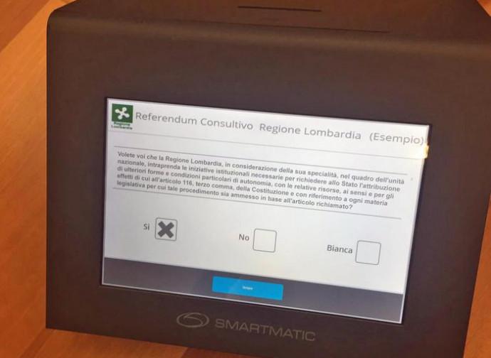 Il voto elettronico in Lombardia