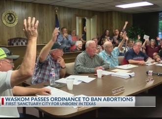 Viva la piccola città texana «santuario per il nascituro»