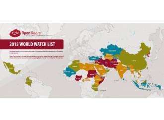 Mappa della persecuzione dei cristiani