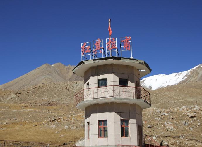 Bandiera rossa sullo Xinjiang