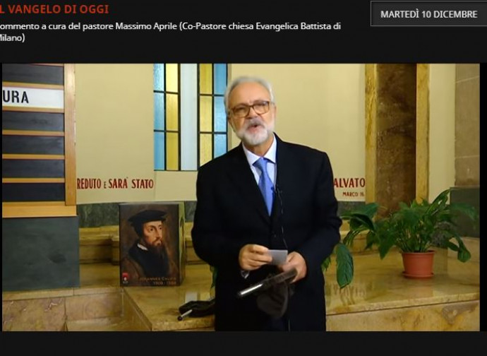 Massimo Aprile, nella chiesa battista di via Pinamonte
