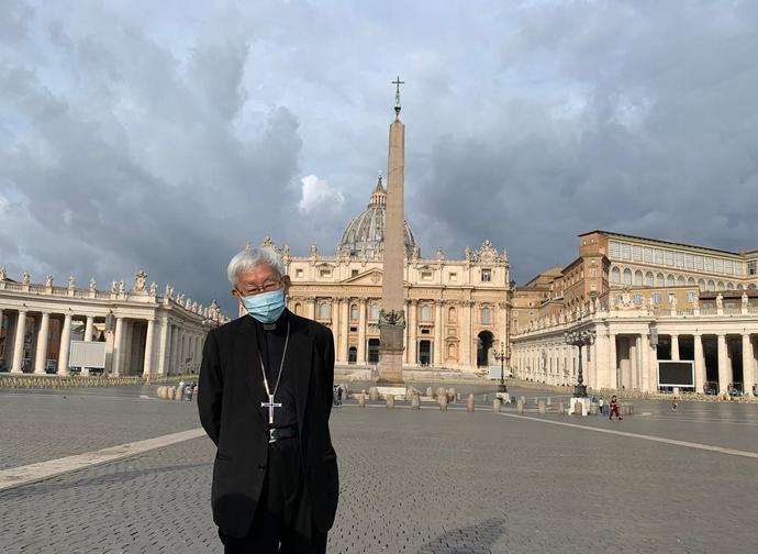 Il cardinale Zen a Roma