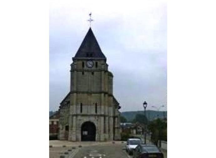 La chiesa di Saint Etienne dove è stato sgozzato padre Jacques